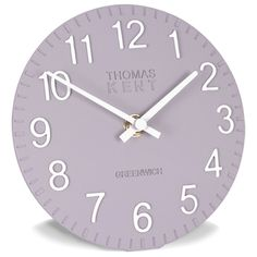 "Thomas Kent Clocks|6"" Cotswold CROCUS LILAC Clock