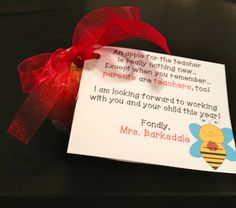 Sweet Honey in 2nd: Parent Night- plus a poem to download about parents and teachers as partners