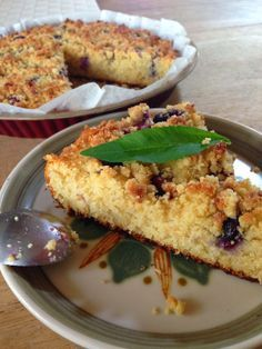 SANS GLUTEN SANS LACTOSE: Coffee cake aux myrtilles sans gluten et sans lactose