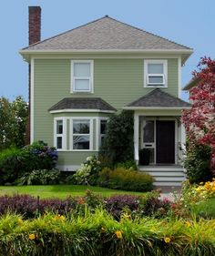 Beautiful Green Houses Of All Shades House color combinations
