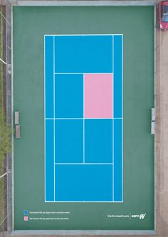 Ambient advertisement created by Africa, Brazil for ESPNW, within the category: Media. Graphic Design Print, Ad Design, Graphic Prints, Print Ads, Poster Prints, Tennis Posters, Clever Advertising, Advertising Campaign, Design Campaign