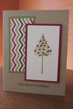 Christmas card using Stampin' Up Warmth & Wonder and Season of Style DSP