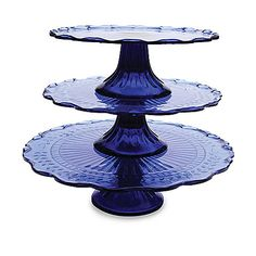 $20 from bed bath and beyond blue glass set