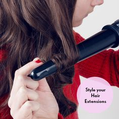 How to use hair extensions for volume: Curl your hair extensions