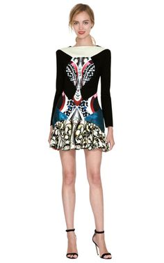 Cano Printed Paneled Dress by Peter Pilotto Now Available on Moda Operandi