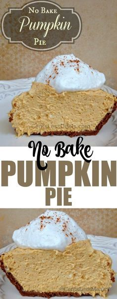 This No Bake Pumpkin Pie recipe is very easy to whip up and if you love pumpkin this is a fun twist on regular pumpkin pie!