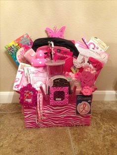 Think Pink Gift Basket Version 20 For Silent Auction