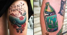 16 Geeky Hitchhiker's Guide To The Galaxy Tattoos