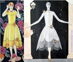 Butterick robe de style with sheer scalloped hem, pattern 6935 from 1926. Delineator. Another idea for Juliet?