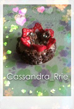 polymer clay chocolate cake.