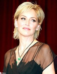Sharon Stone Hairstyle hair styles Pinterest Hair