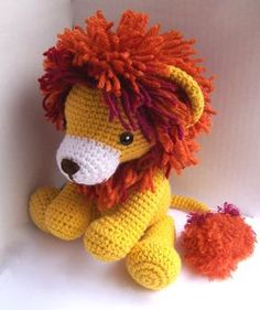 Instant Download Crochet Pattern-Baby Lion-Toy Lion-Amigurumi