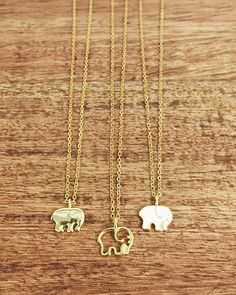 gold ella necklaces ✨ which one's your favorite: 1, 2 or 3? #savetheelephants