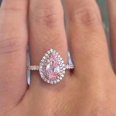 Fancy pink pear shaped diamond