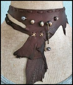 Leather Choker or Neck Corset from www.aboriginalsbykate.etsy.com
