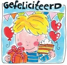 Gefeliciteerd - Blond Happy Birthday Boy, Birthday Wishes, Birthday Cards, Blond Amsterdam, Blue Christmas, Christmas Wishes, Kat Van D, Valentines Watercolor, Homemade Valentines