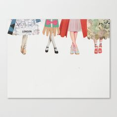 Legs and heeels Stretched Canvas by Lydia Coventry - $85.00
