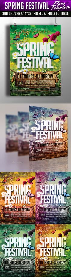 Spring Party Template Psd FlyerPoster  Spring Parties And Templates