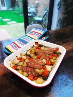 Slimming World Sausage Tray Bake