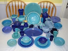 blue fiestaware - Google Search