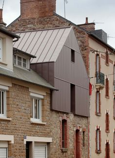 Parasitic Architecture, Facade Architecture, Residential Architecture, Conservation Architecture, Standing Seam Roof, Roof Extension, Attic Apartment, House Extensions, Metal Roof