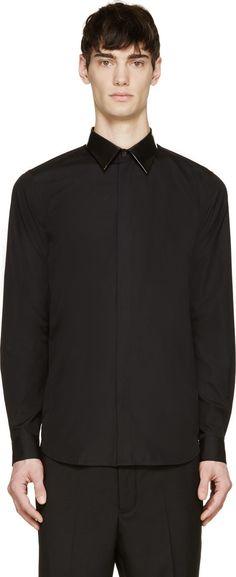 Calvin Klein Collection PVC Collar Shirt