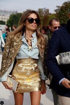 did someone say Balmain?! yes, and it was #EricaPelosini again. guru. Paris.