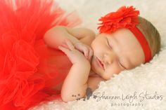 Baby Love Tutu Newborn Valentine's Day Tutu Red Tutu With Matching Flower Headband From The Sweet Sweet Couture Collection. $35.00, via Etsy.
