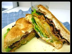 Bacon, Lettuce and Fried Green Tomato Sandwich