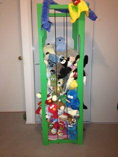 # toy storage #toy jail #teddy's new home #wooden storage # kids toys # keep it clean