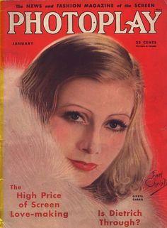 Photoplay Magazine with Greta Garbo 1933