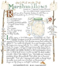 I love how this homemade marshmallow recipe looks. I'd just need to change the ingredients and take out all corn. Old Recipes, Vintage Recipes, Candy Recipes, Baking Recipes, Dessert Recipes, Desserts, Fudge Recipes, Yummy Recipes, Cookie Recipes