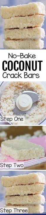 COCONUT CRACK BARS - COCONUT CRACK BARS - 1 cup shredded...  COCONUT CRACK BARS - COCONUT CRACK BARS - 1 cup shredded coconut  tsp vanilla extract 1/8 tsp salt  cup Full recipe: chocolatecoveredk Chocolate Covered Katie Recipe : http://ift.tt/1hGiZgA And @ItsNutella  http://ift.tt/2v8iUYW