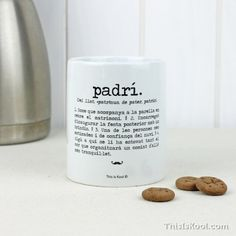 """Tassa - """"Padrí"""".  Per regalar al Padrí del vostre casament. Si, si, també en català ;) Regal original per sorprendre al vostre Padrí de Casament."""