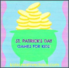 3 Easy games perfect for a preschool St. Patrick's Day party or play them with older children too.