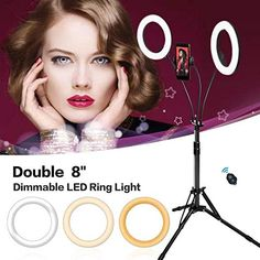Carrying Case Remote Peaceip US Ring Light 14in External Dimmable LED Ring Light Lighting Kit for YouTube//Self Portrait with 2m Light Stand Phone Clip
