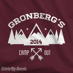 Personalized Camping TShirt TShirts For Camp Out by ShirtsBySarah