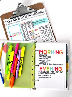 This DIY Student Accountability Binder keeps the kids on track with homework and learning in a fun and organized way!