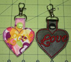 Heart Key Chain Zipper Pull Purse Charm Snap by DollyGeeWillikers