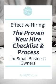 Getting ready for a new hire to join your small business? Hiring employees can be a stressful event. Learn how to hire effectively with the proven hiring checklist and process. Get your new hire checklist today. Starting A Business, Business Planning, Business Tips, Online Business, Business Meme, Business Coaching, Creative Business, Business Interview Questions, Hiring Employees