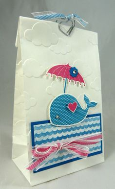 12 Heart-Tied Flower Seed Paper Whales Ahoy It/'s a Boy Baby Shower Favors Nautical Theme
