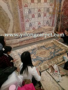 Not all of us can do great things. But we can do small things with great love. We was in exhibition in Shanghai.Which handmade silk rug do you like? #colorful #beautiful #gorgeous #carpet #weaving #tribal #modern   #home #decor #interiordesign   #silkrug #silkcarpet #turkishcarpet #turkishcarpet  www.yilongcarpet.com alice@yilongcarpet.com whatsapp: 008615638927921