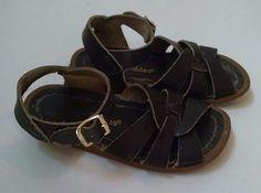 de066b380072 Hoyway Baby Girl Salt Water Sandals Size 8 Dark Brown Leather  Hoyway   Sandals Silver