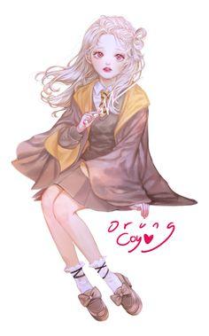 Lolis Anime, Chica Anime Manga, Kawaii Anime, Arte Do Harry Potter, Harry Potter Anime, Anime Child, Anime Art Girl, Female Characters, Anime Characters