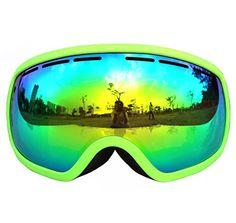 6b9979e8aa1f Copozz Big Frame Snow Ski Goggles Professional Anti fog Skiing Eyewear Mask  For Men Women