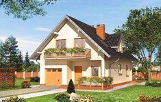 Model de casa cu garaj la parter Attic Rooms, Home Fashion, Mansions, House Styles, Outdoor Decor, Home Decor, House Ideas, Flats, Cabin