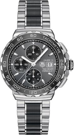 View all TAG Heuer® Official Website - All TAG Heuer FORMULA 1 Watches watches and find the perfect watch for your wrist. TAG Heuer Swiss avant-garde since Tag Watches, Cool Watches, Rolex Watches, Watches For Men, Black Watches, Herren Chronograph, Tag Heuer Formula, Automatic Watch, Casio Watch