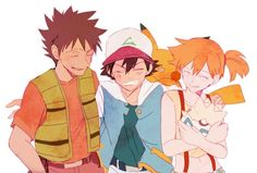 Brock, Ash and Misty