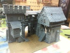 Terrain Kit bashing with models.