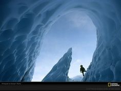 Matanuska Glacier Cave, Alaska Photograph by George F. Mobley Meltwater sculpted the dagger-like shaft of ice near a cave in Matanuska Glacier in Alaska's Chugach Mountains. Matanuska is an active glacier, advancing about one foot meters) every day. National Geographic Photography, Wonders Of The World, Places To Go, Photo Galleries, Around The Worlds, The Incredibles, Earth, Adventure, Pictures